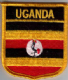 Uganda Embroidered Flag Patch, style 07.